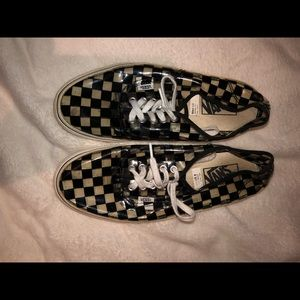 Transparent checkered style Vans